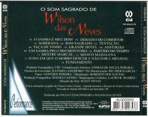 contra capa CD O SOM SAGRADO DE WILSON DAS NEVES